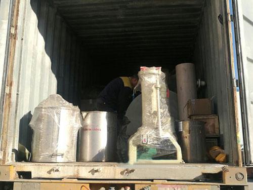 铜铝不锈钢分离机发货现场
